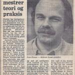 Han mestrer teori og praksis, Peter Kramer